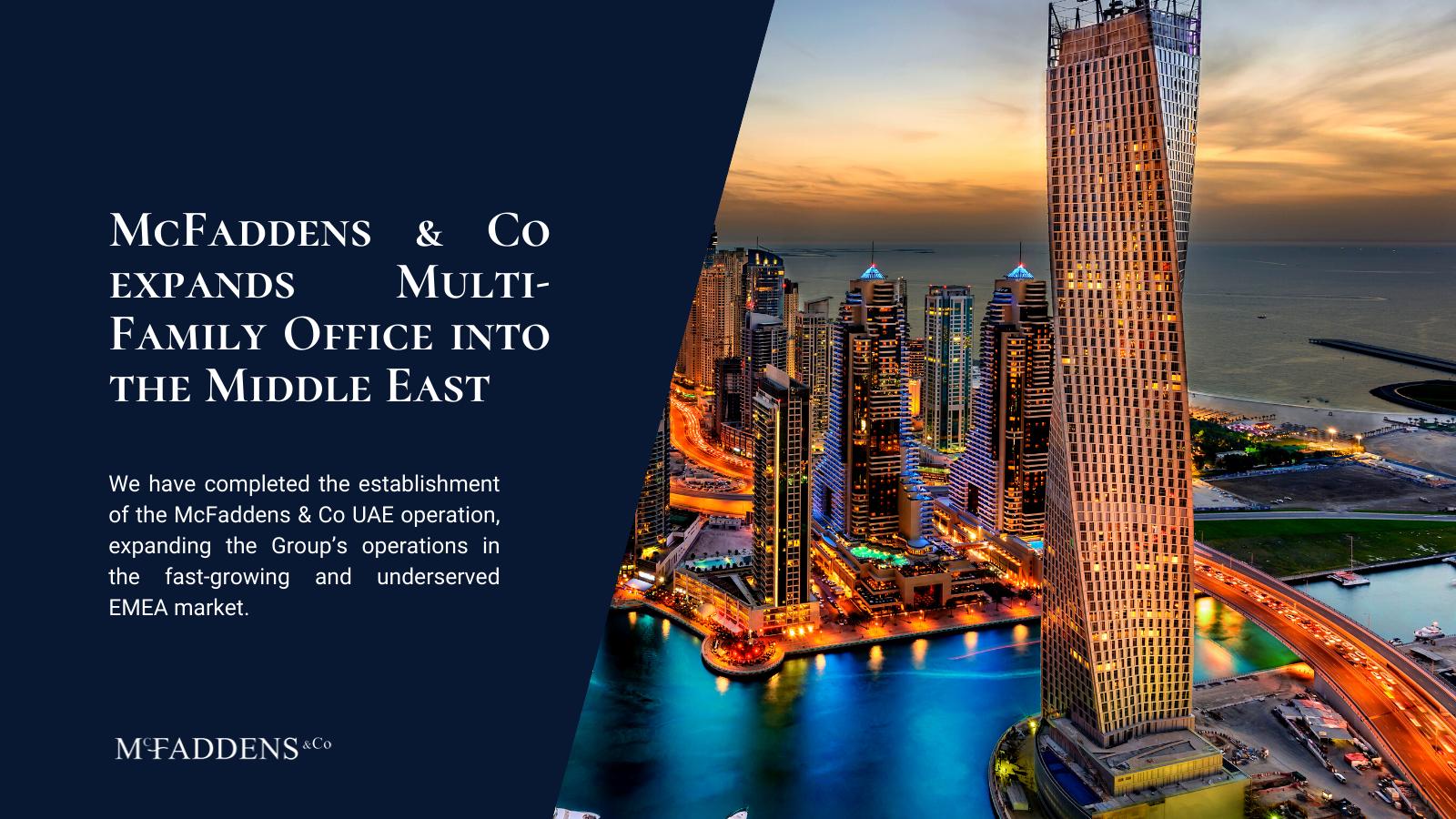 establishment McFaddens & Co UAE operation